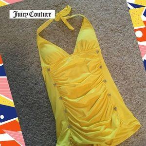 Juicy Couture 1-pc swimdress SZ S-P yellow gather